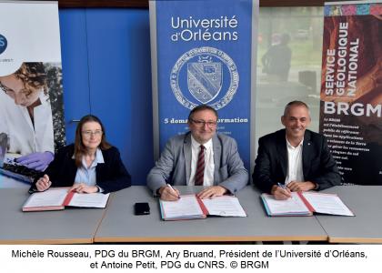 11 juin 2018 : Signature de la convention de collaboration 2018-2022 par les présidents des trois tutelles de l'ISTO, dans nos  locaux